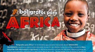 Bolígrafos para África
